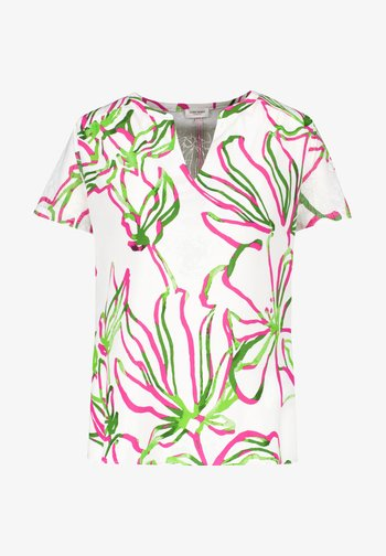 1/2 ARM - Print T-shirt - weiß azalea palm druck