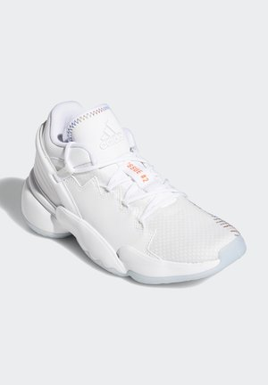 D.O.N. ISSUE 2 UNISEX - Basketball shoes - footwear white/core white/solar red