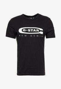 GRAPHIC LOGO SLIM - Print T-shirt - black