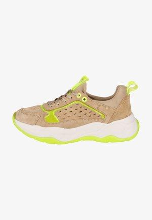 Sneakers laag - beige/yellow