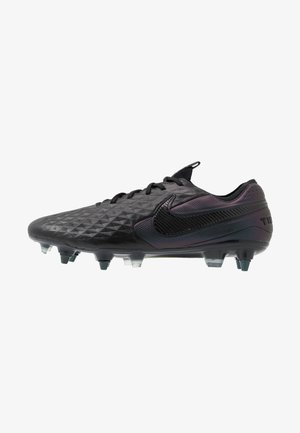 TIEMPO LEGEND 8 ELITE SG-PRO AC - Screw-in stud football boots - black/white/volt