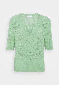sandro - JOE - Print T-shirt - vert amande - 3