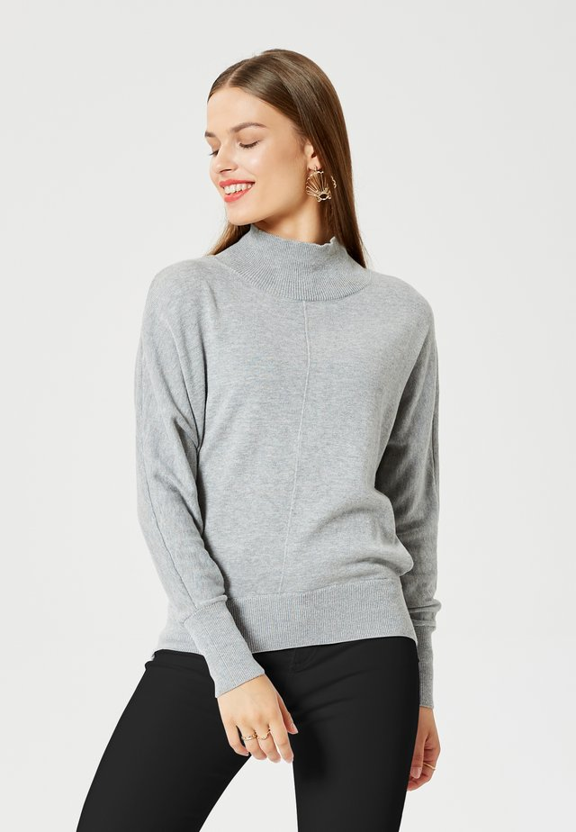 Sweter - gris clair