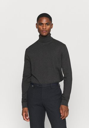 SLHBERG ROLL NECK - Jumper - antracit melange