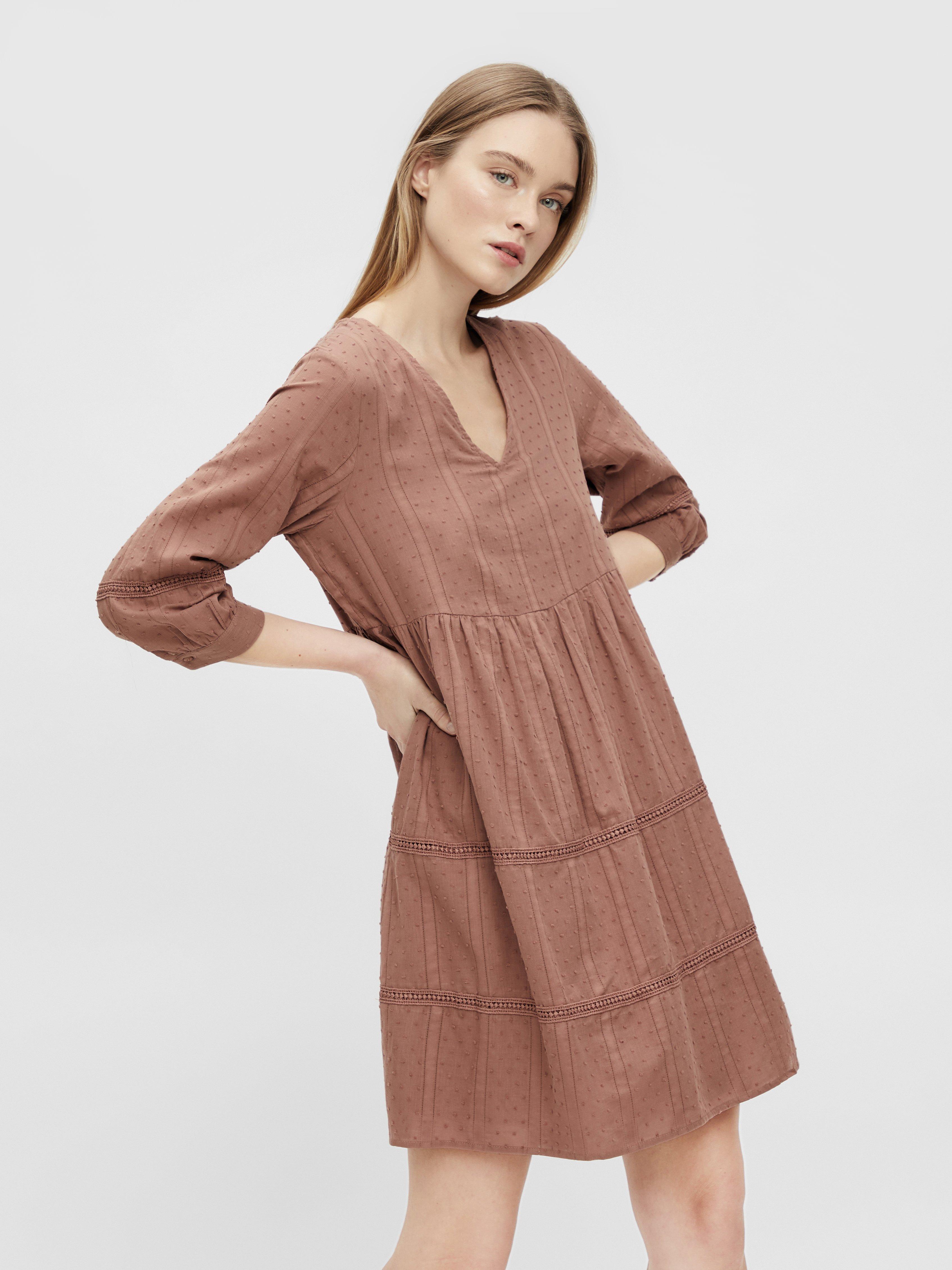 Women OBJGEILLIS 3/4 DRESS - Day dress