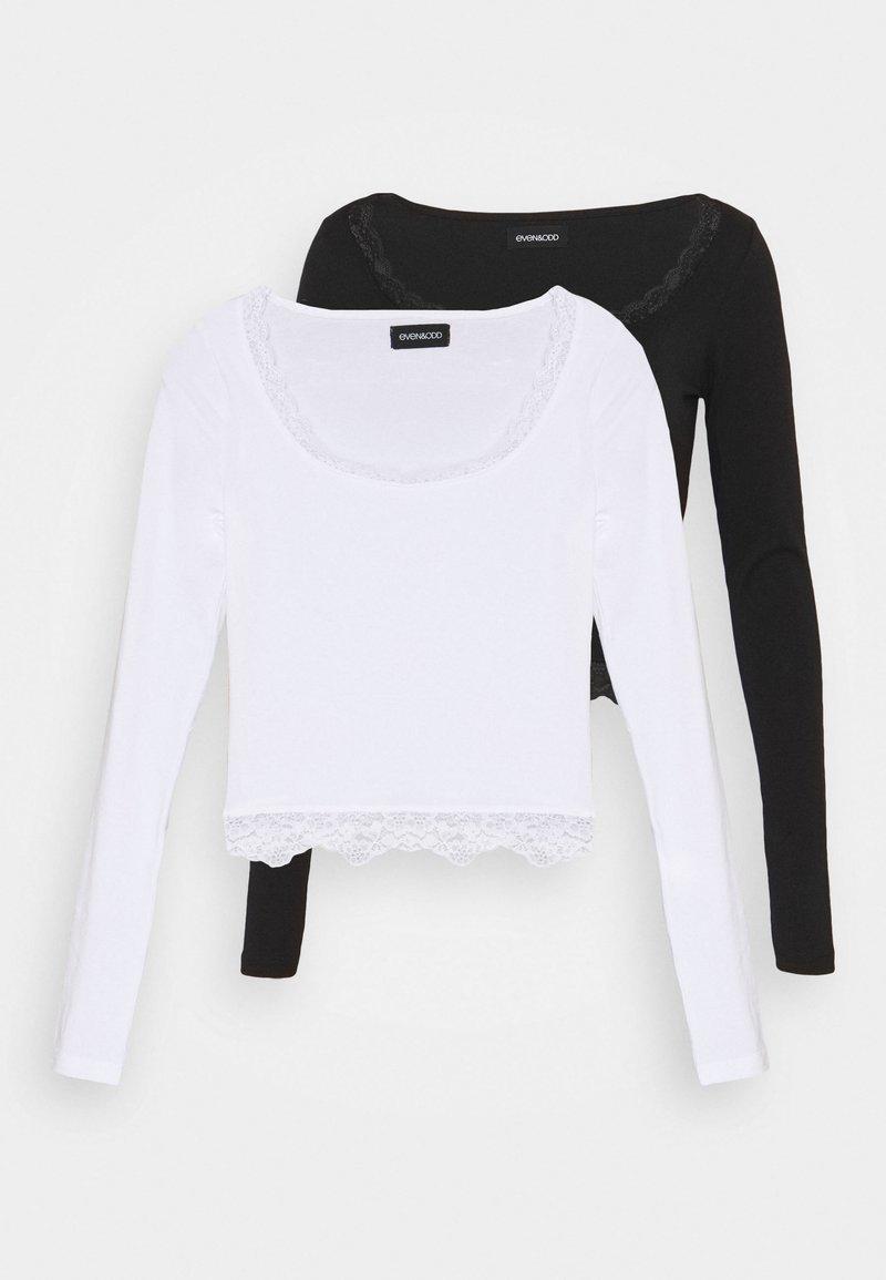 Even&Odd Petite - 2 PACK - Bluzka z długim rękawem - black/white
