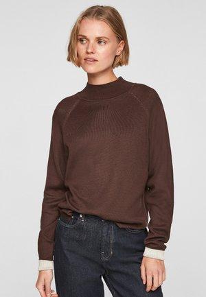 MIT KONTRAST-DETAILS - Sweatshirt - dark chocolate