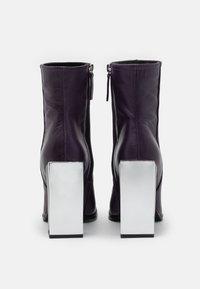 Topshop - HOMER SQUARE TOE HARDWARE BOOT - Bottines - purple - 3