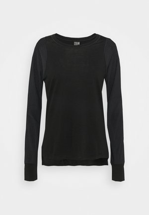 BREEZE RUNNING - Langærmede T-shirts - black