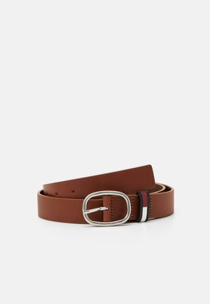 FLAG INLAY BELT - Belt - brown