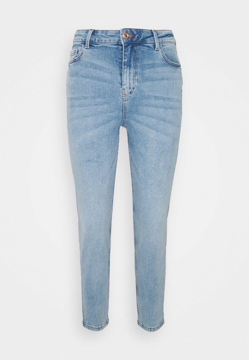 Pieces Petite - PCKESIA MOM - Jeans Tapered Fit - light blue denim