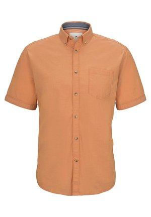 MIT BRUSTTASCHE - Shirt - orange chambray