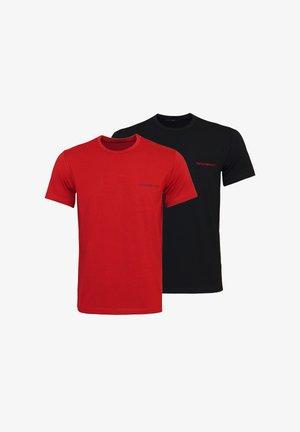 2 PACK - T-shirt basic - red black