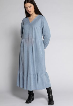 Maxi dress - taubenblau-melange