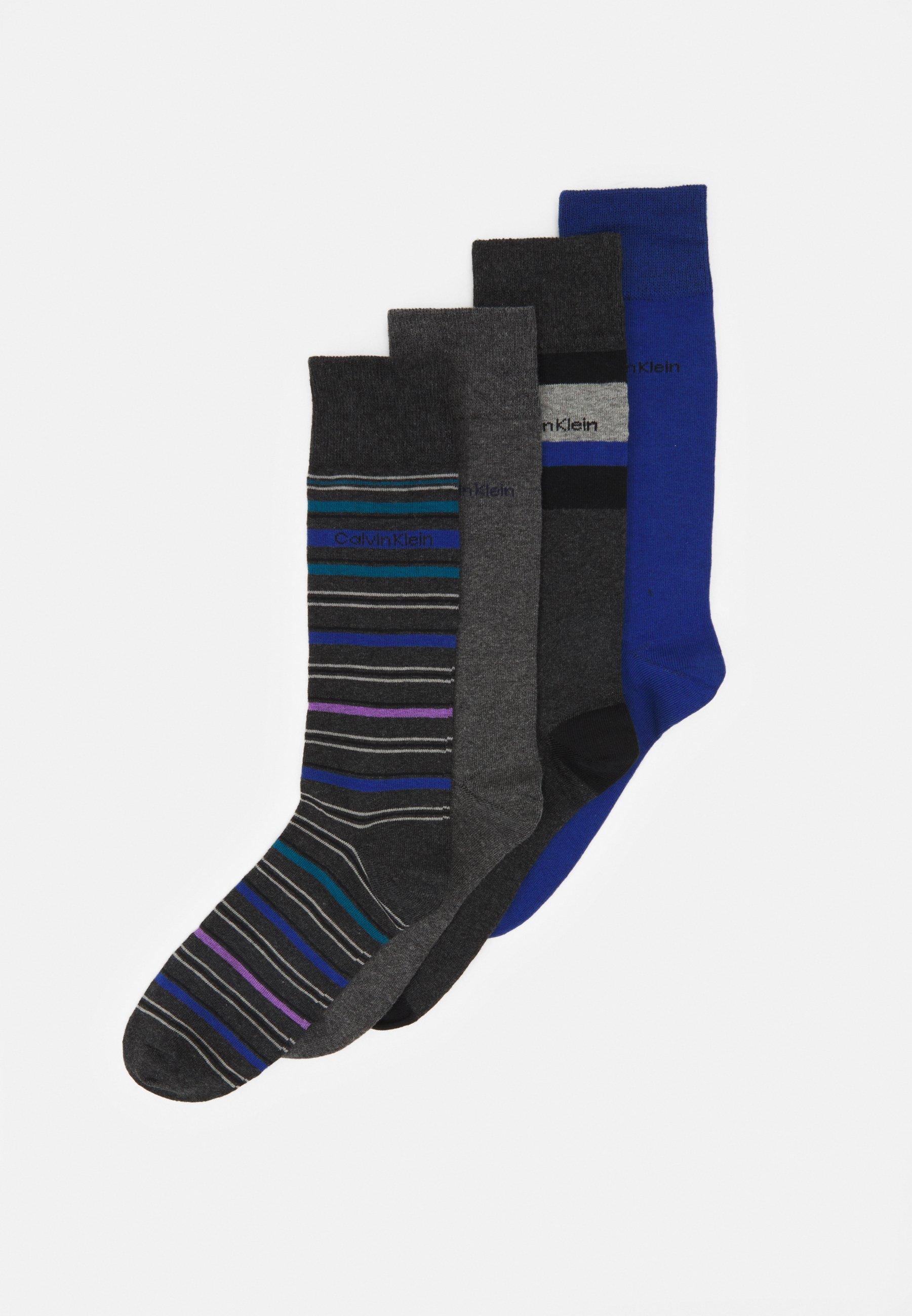 Men PATTERN DRESS CREW GIFTBOX DAVID 4 PACK - Socks
