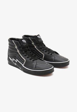 UA SK8-HI BOLT - Baskets montantes - black/black