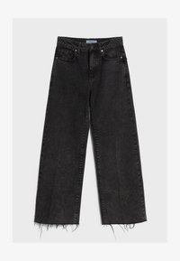 Bershka - Džíny Straight Fit - black denim - 5