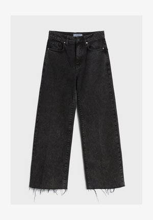 Džíny Straight Fit - black denim