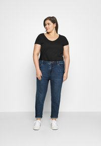 Simply Be - HIGH WAIST MOM JEANS - Relaxed fit jeans - new vintage blue - 1