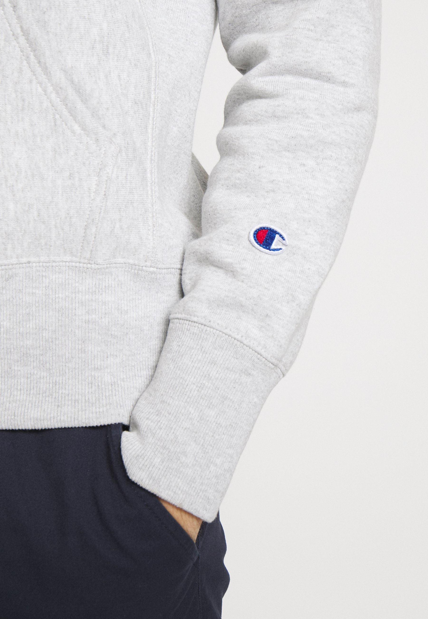 Champion Reverse Weave BASIC HOODED - Sweat à capuche - light grey