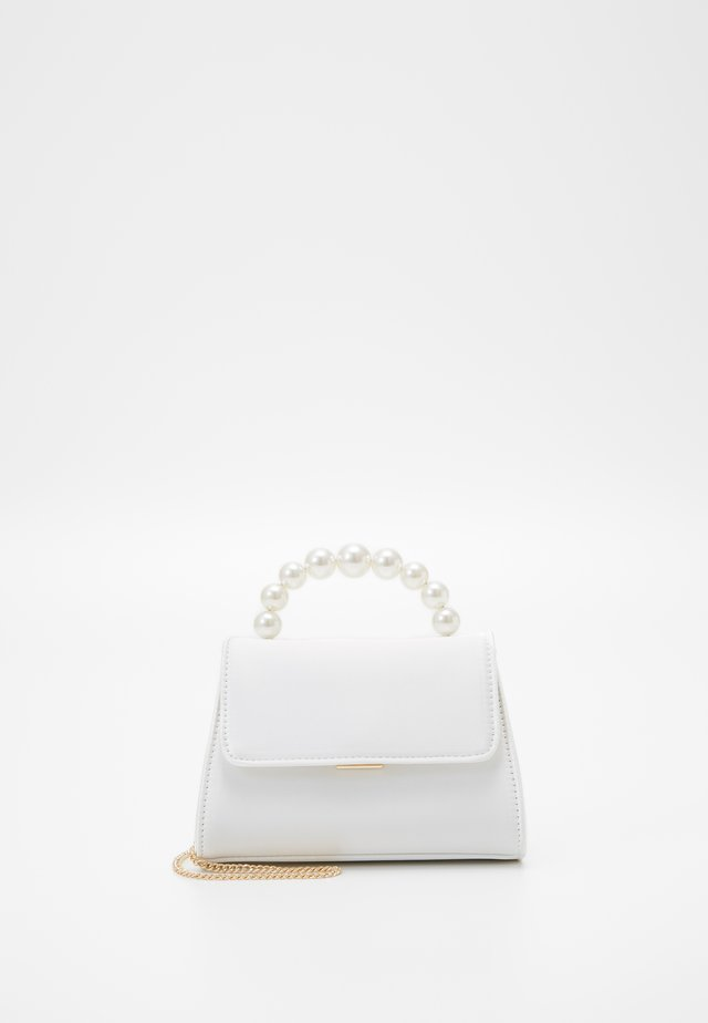 JENNIE PEARL TOP HANDLE MINI BAG - Skulderveske - ivory