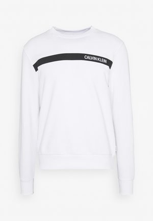BOLD STRIPE LOGO  - Sweater - white