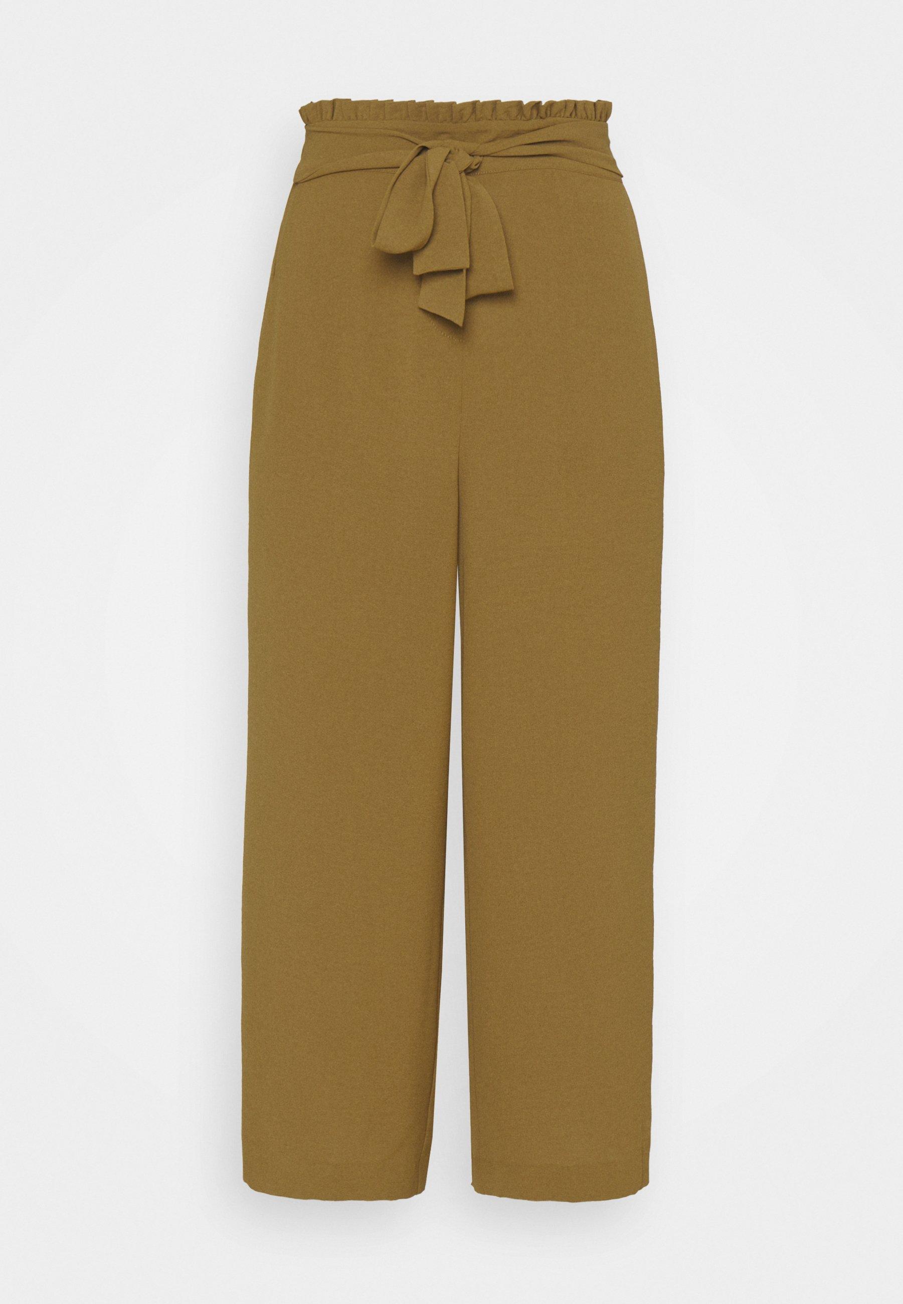 Femme VIRASHA CROPPED WIDE PANT - Pantalon classique