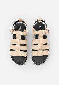 Office - GEEK SHOE OPEN TOE - Sandály na platformě - bone - 5