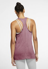 Nike Performance - YOGA LAYER TANK - Sports shirt - desert berry - 2