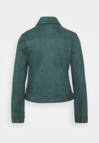 Springfield - Faux leather jacket - green - 1