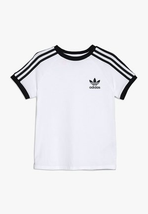 STRIPES  - T-shirt med print - white/black