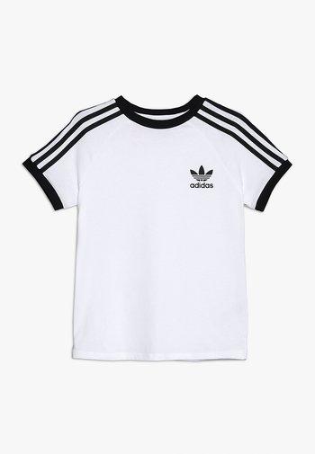 STRIPES TEE - Print T-shirt - white/black