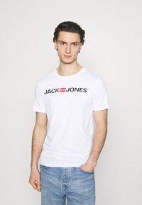 Jack & Jones - JJECORP LOGO TEE CREW NECK 3 PACK - Print T-shirt - white - 1