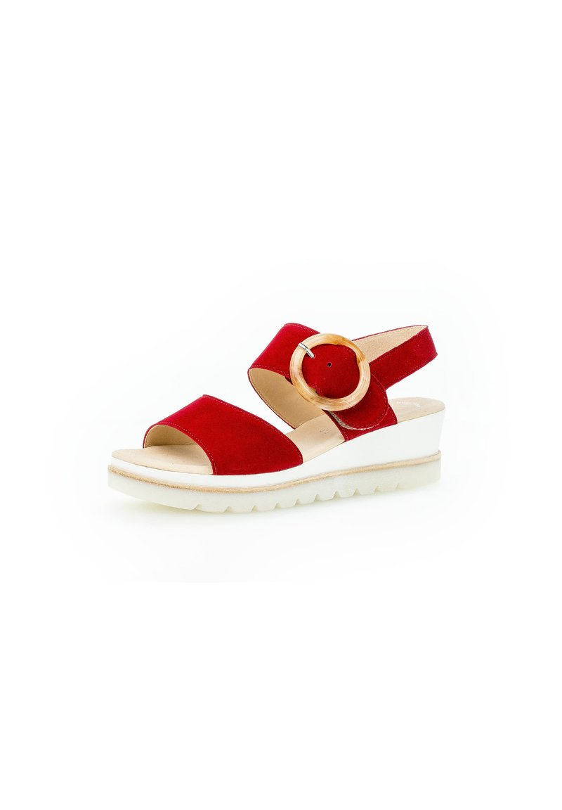 Gabor - Wedge sandals - rot