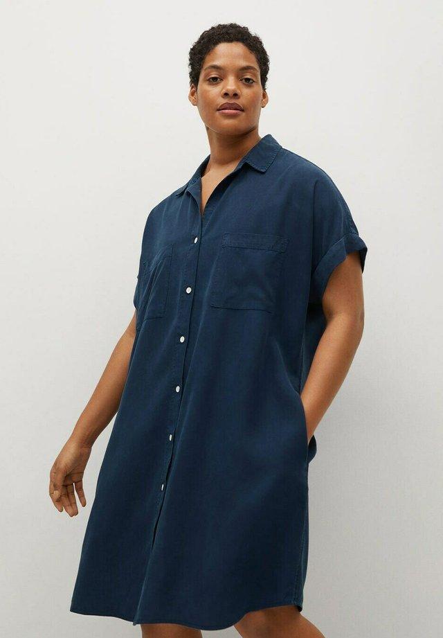 UVA - Shirt dress - dunkles marineblau