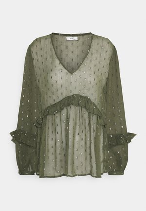 JDYSHIMMER TOP - Blouse - forest night/silver