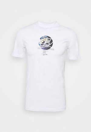 GLOBE TEE UNISEX - Print T-shirt - white