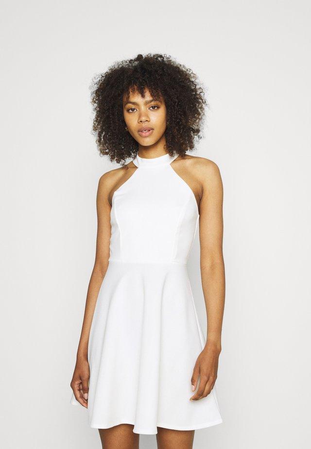 SUSIE HLATER SKATER DRESS - Jersey dress - white