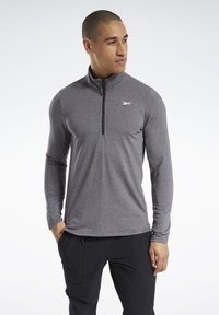 Reebok - ACTIVCHILL+COTTON TRAINING 1/4 ZIP - Sweatshirt - black - 0
