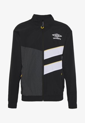 DIAMOND CUT TRACK JACKET - Giacca sportiva - black/brilliant white