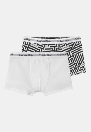 2 PACK - Pants - mazeblack/white