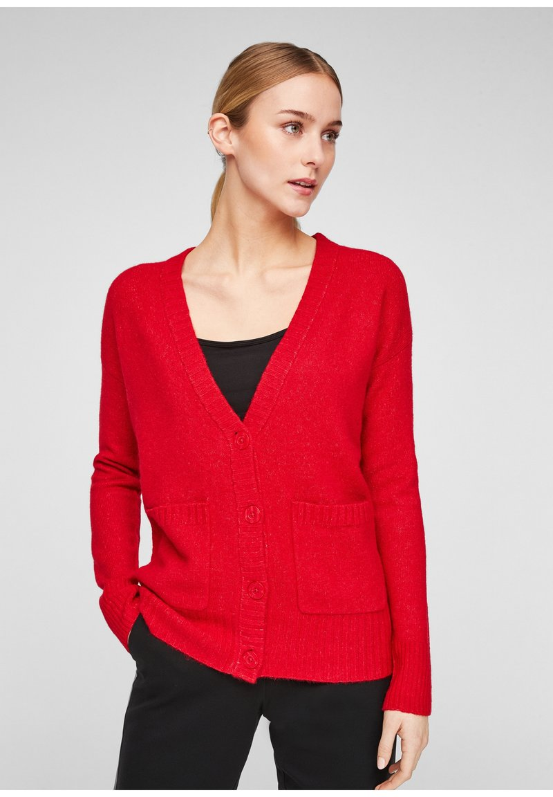 comma casual identity - Cardigan - scarlet red
