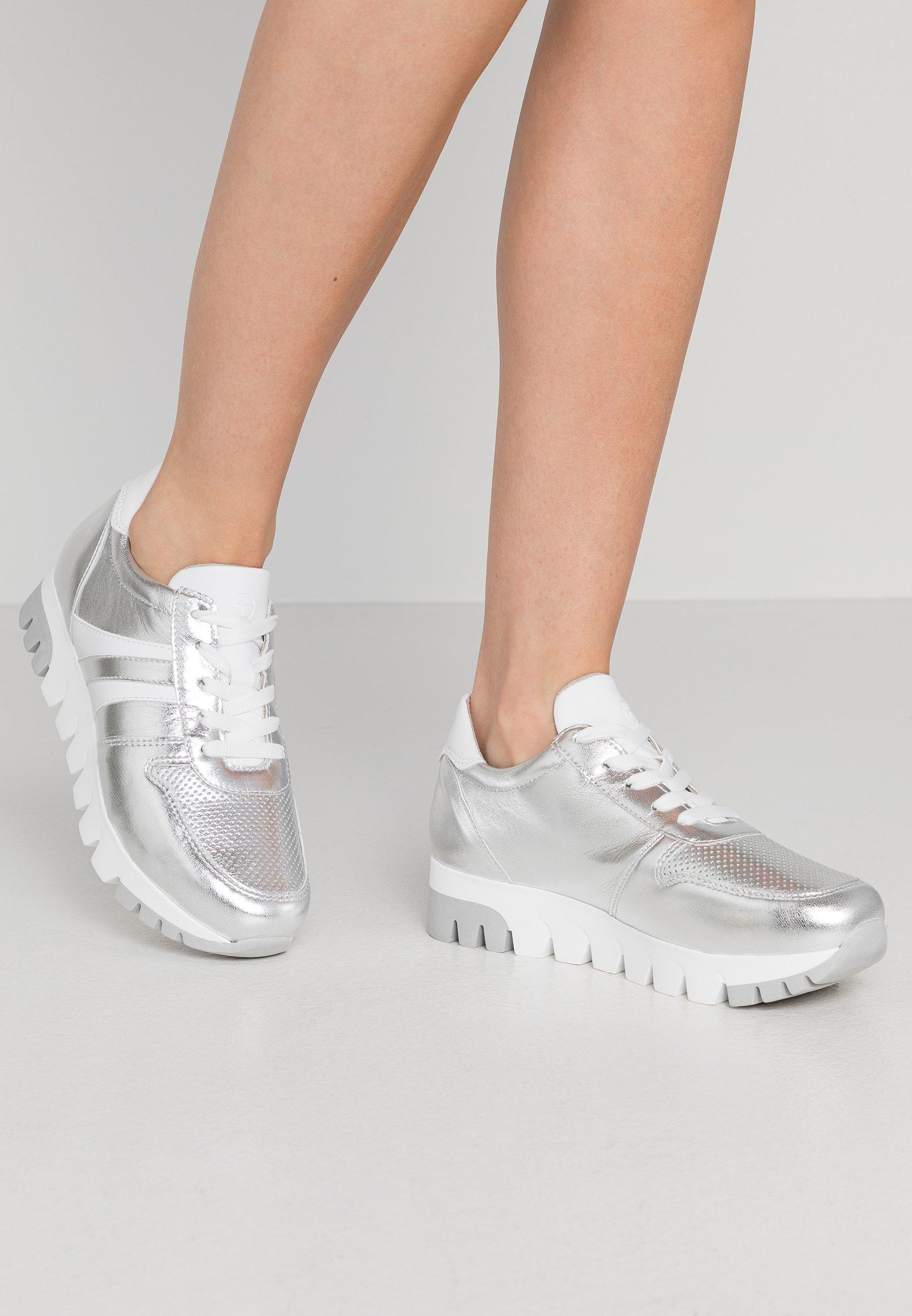 LACE UP Sneaker low silverwhite