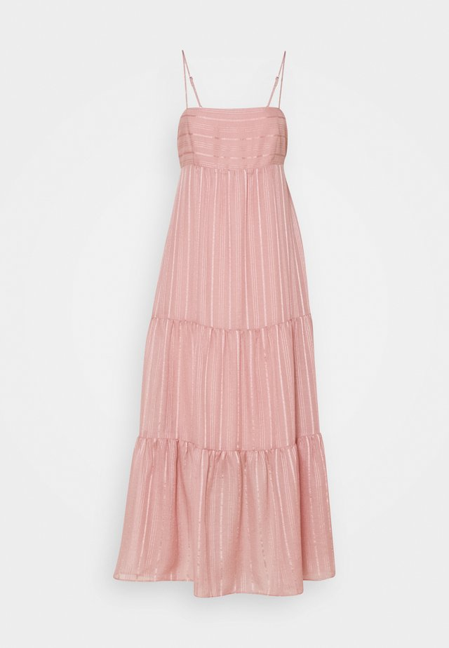FAITH TIERED MIDI DRESS - Juhlamekko - blush