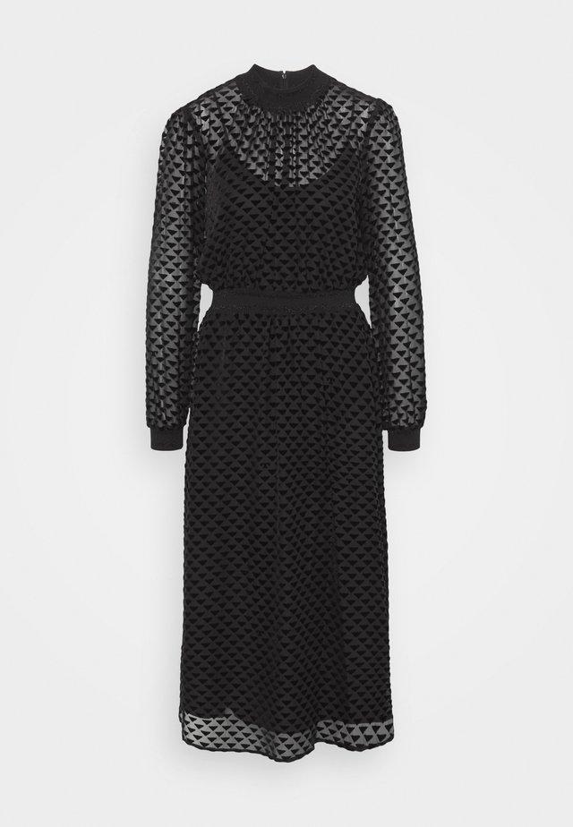 DEVORE DRESS - Blousejurk - black