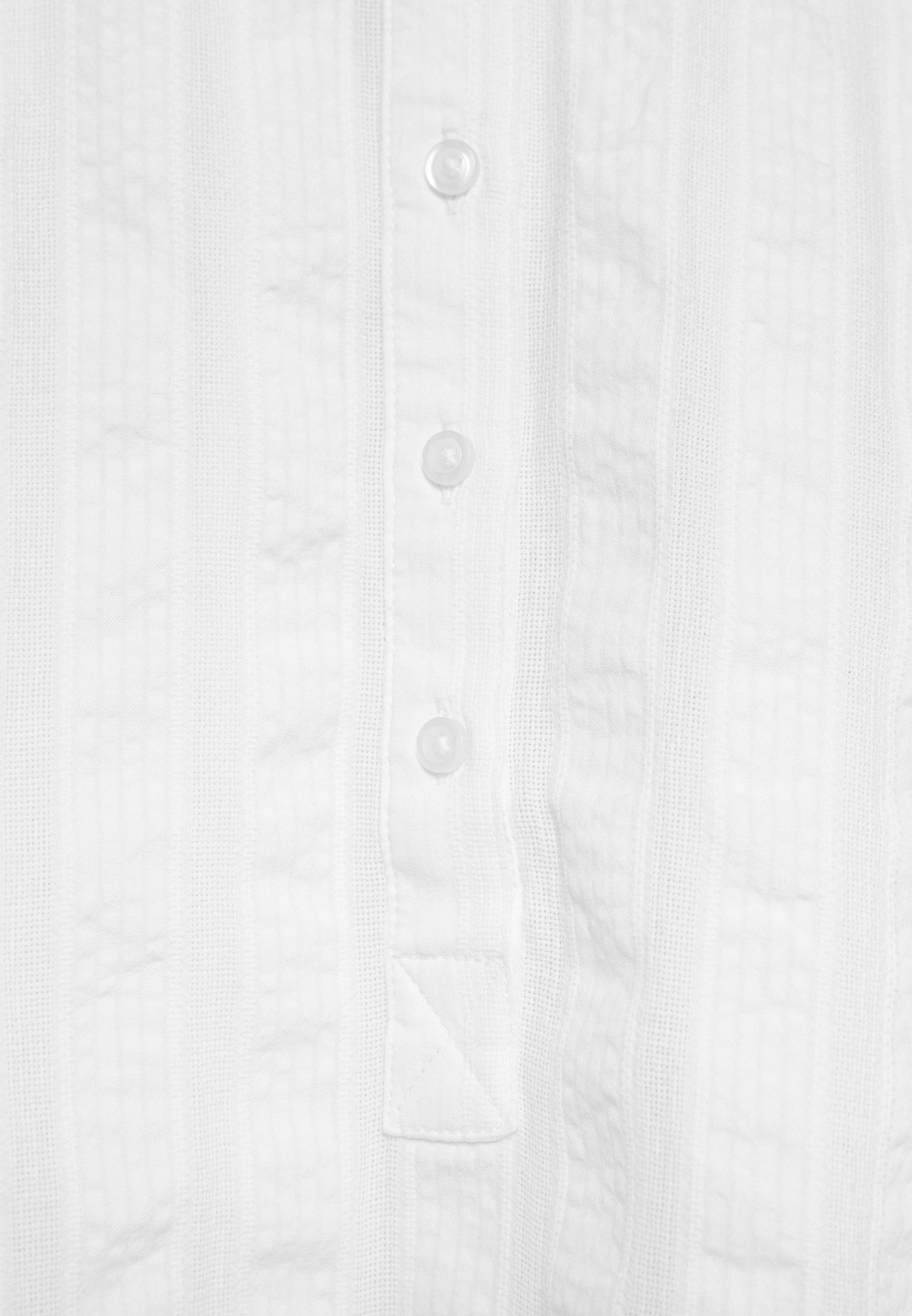 GAP Petite SHIRRED EASY POPOVER DOBBY - Bluser - fresh white