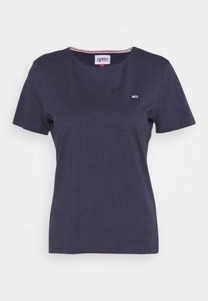 SLIM C NECK - Basic T-shirt - blue