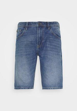 Denim shorts - mid stone wash denim          blue