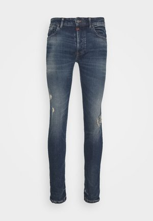MORTEN DESTROYED - Slim fit jeans - dark blue