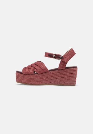 NEW SOCOTRA - Platform sandals - burdeos